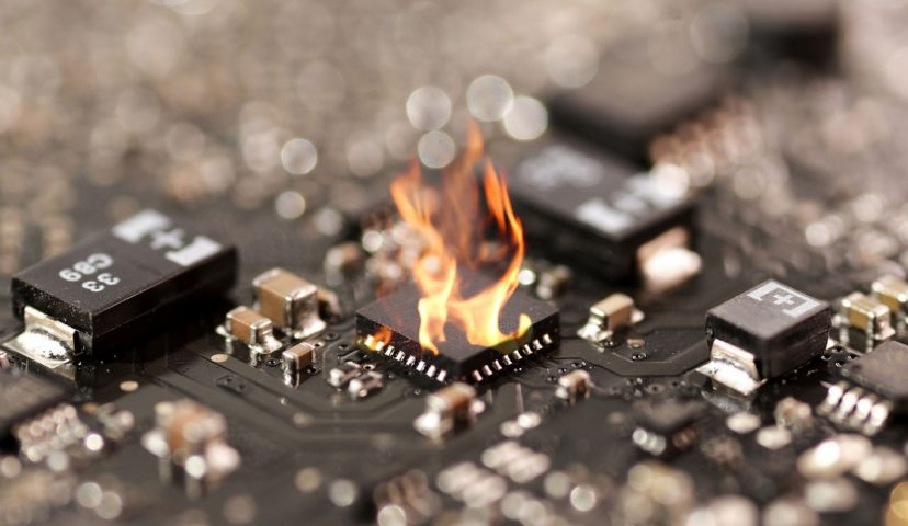 Circuit board fire